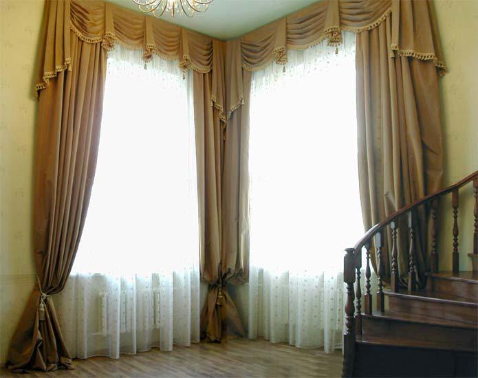 Дизайн штор для холла