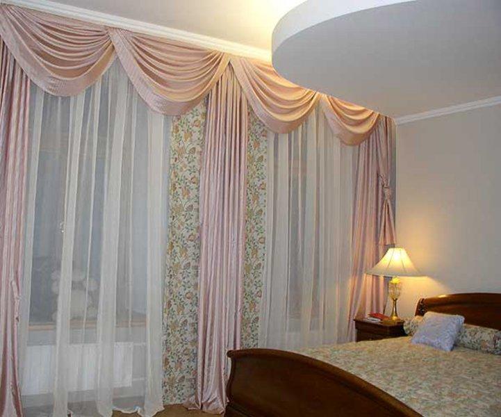 Дизайн штор для кухни-гостиной фото