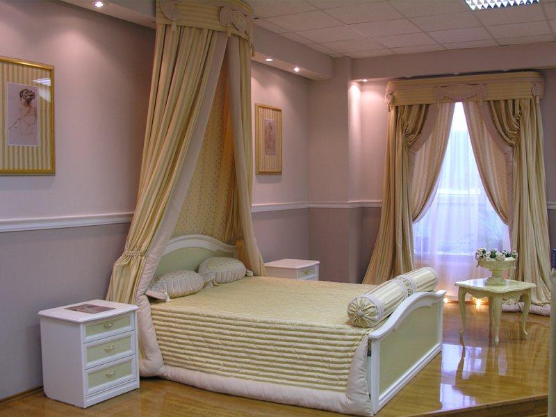 Дизайн и пошив штор для спальни